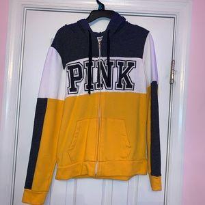 PINK zip up jacket. S
